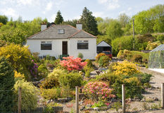 Cottage and garden. Stock Photo