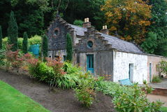 Cottage in gardens of Kylemore Abbey Royalty Free Stock Photography