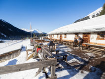 Cottage Garfiun in Klosters Royalty Free Stock Photography