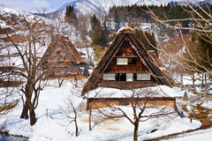 Cottage at Gassho-zukuri Village Stock Photos