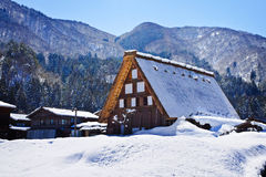 Cottage at Gassho-zukuri Village/Shirakawago Stock Images
