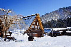 Cottage at Gassho-zukuri Village/Shirakawago Royalty Free Stock Photo