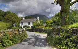Cottage at Grasmere. Pretty Cumbrian cottage near Grasmere, The Lake District, England Stock Images