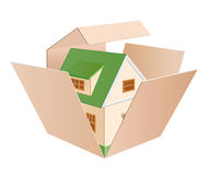 Cottage green box Royalty Free Stock Photography