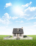 Cottage On Green Lawn Royalty Free Stock Images