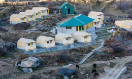 Cottage & guest house. Cottage and guest house at auli hill station in uttrakhand, india Royalty Free Stock Images