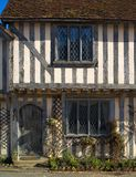 Cottage half-timbered antico Fotografia Stock
