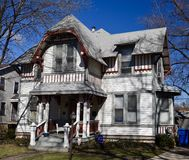 Cottage Home No. 35. This is a Winter picture of Palliser`s Cottage Home No. 35 located in the Morgan Park neighborhood of Chicago, Illinois in Cook County Royalty Free Stock Photography
