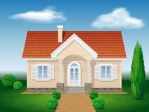 Cottage house with the environment Royalty Free Stock Photo