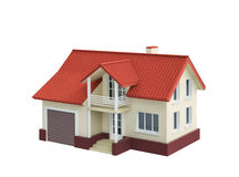 Cottage house with garage Stock Photo