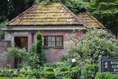 Cottage, House, Home, Flower stock image