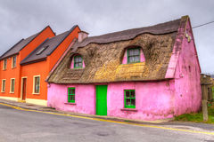Cottage house in Ireland. Old pink cottage house in Ireland Royalty Free Stock Photography