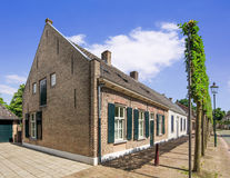 Cottage houses in an ancient part of Tilburg, The Netherlands. Lovely cottage houses in an ancient part of Tilburg, The Netherlands royalty free stock image