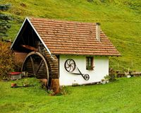 Cottage, Hut, House, Grass Stock Photography