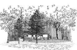 Cottage Illustration Stock Photography
