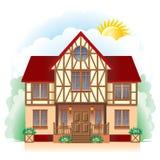 Cottage (illustrazione dettagliata) Immagini Stock