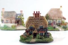 Cottage inglesi del paese Fotografia Stock