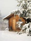 Cottage in inverno Immagini Stock