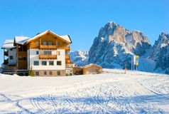 Cottage in the Italian Alps Stock Images