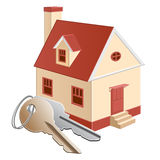 Cottage with keys vector illustration