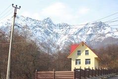 Cottage in Krasnaya Polyana village, Krasnodar Stock Photo