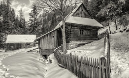 Cottage in Kvacianska dolina, Slovakia Royalty Free Stock Photo