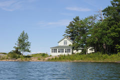 Cottage on a lake Royalty Free Stock Image