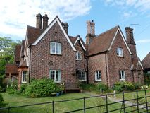 Cottage at 10 Latimer Road and the Gamekeeper`s Cottage, 11 Latimer Road, Chenies stock photos