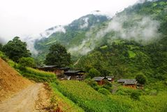 Cottage of the Lisu nationality. Yunnan Nationalities Cottage usually be built in tourism scenic spots with beautiful environment and long cultural history. Most Royalty Free Stock Photos