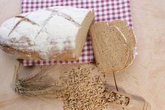 Cottage loaf and cereal Stock Photo