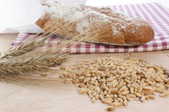 Cottage loaf and cereal Stock Images