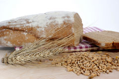 Cottage loaf and cereal Stock Photos
