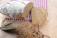 Cottage loaf and cereal Royalty Free Stock Photos