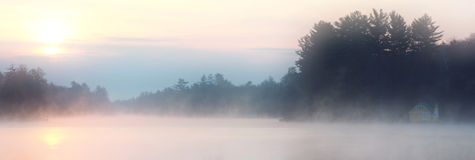 Cottage Mist Royalty Free Stock Photography