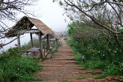 Cottage at Mon Jam Viewpoint in Chiang Mai, Thailand royalty free stock photos