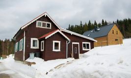 Cottage in montagne Immagini Stock