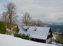 Cottage in montagne Fotografia Stock Libera da Diritti