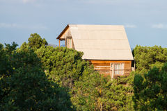 Cottage on mountain Stock Photography