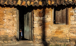 Cottage in a mountain village in the chapada diamantina Royalty Free Stock Photo