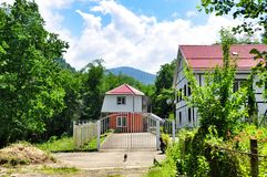 Cottage in the mountains Stock Photography