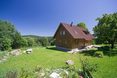 Cottage in the nature Stock Photography