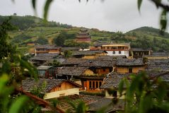 Cottage of the Naxi nationality. Yunnan Nationalities Cottage usually be built in tourism scenic spots with beautiful environment and long cultural history. Most Royalty Free Stock Photography