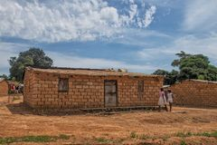 Cottage near the province of malanje africa. Angola. royalty free stock photo