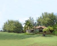 Cottage nel campo Immagine Stock