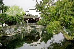 Cottage nel verde Immagini Stock