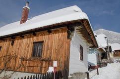 Cottage nel vlkolinec Fotografia Stock Libera da Diritti