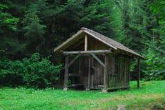 Cottage nella foresta immagine stock