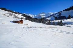 Cottage nelle alpi Fotografia Stock Libera da Diritti