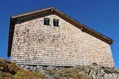 Cottage nelle alpi, Austria Fotografia Stock