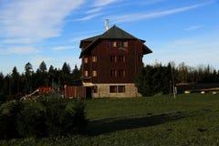 Cottage Oddech, Pec pod Snezkou, the giant mountains (czech: Krkonose, Pec pod Snezkou), the northern part of the Czech Republic Stock Photo